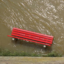 Park Bench During Flood