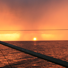 Picture of sunset squall by NOAA Fisheries/Christopher Sarro