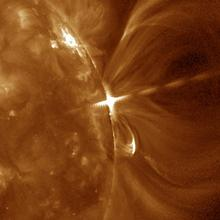 Image of SUVI solar flare Sept 2017 by NCEI
