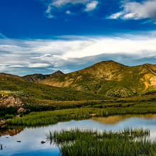 Photo of a pond landscape in Colorado