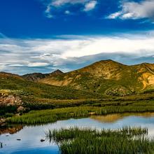 Photo of a pond landscape in Colorado