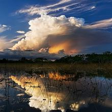 Photo of storm clouds over the Everglades