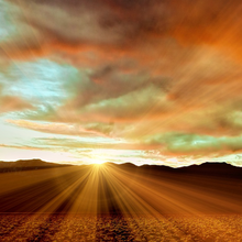 Photo of a sunset in Death Valley, California