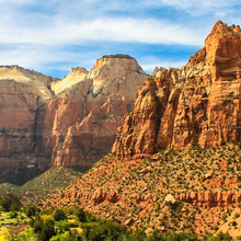 Photo of the Zion Mountains in Utah