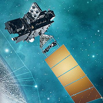 Image of artistic rendering of NOAA satellite