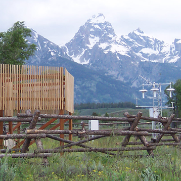 Photo of U.S. Climate Reference Network station in Moose, Wyoming