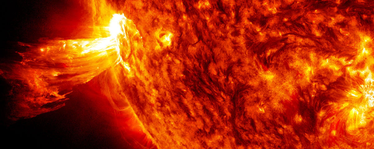 Image of a coronal mass ejection (CME) on June 20, 2013