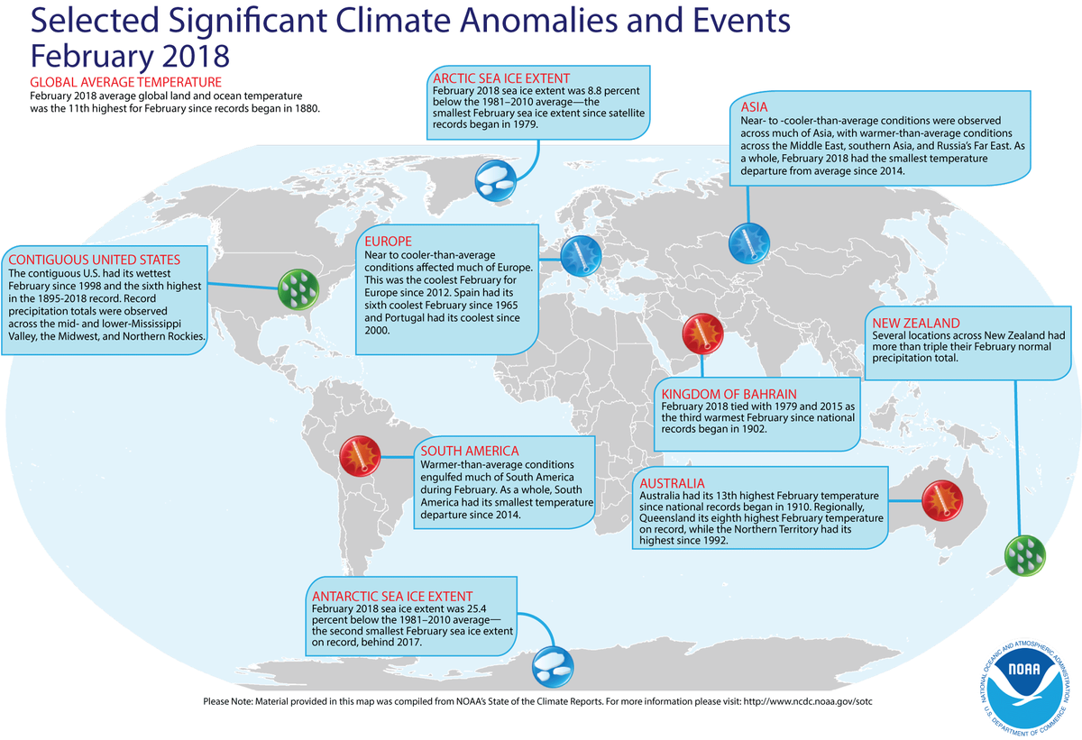Assessing the Global Climate in February 2018 | News | National ...
