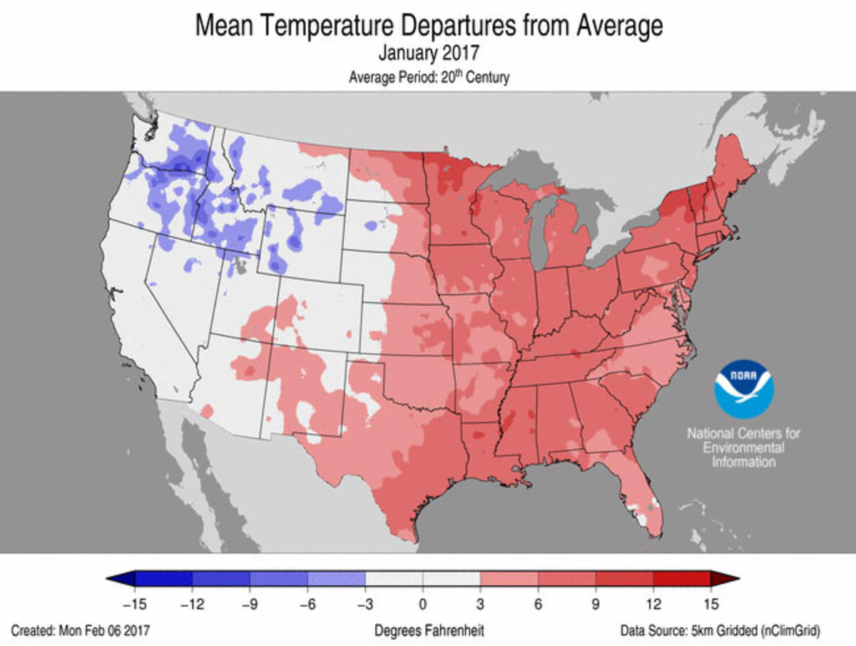Assessing The US Climate In January National Centers For - Average temp map us