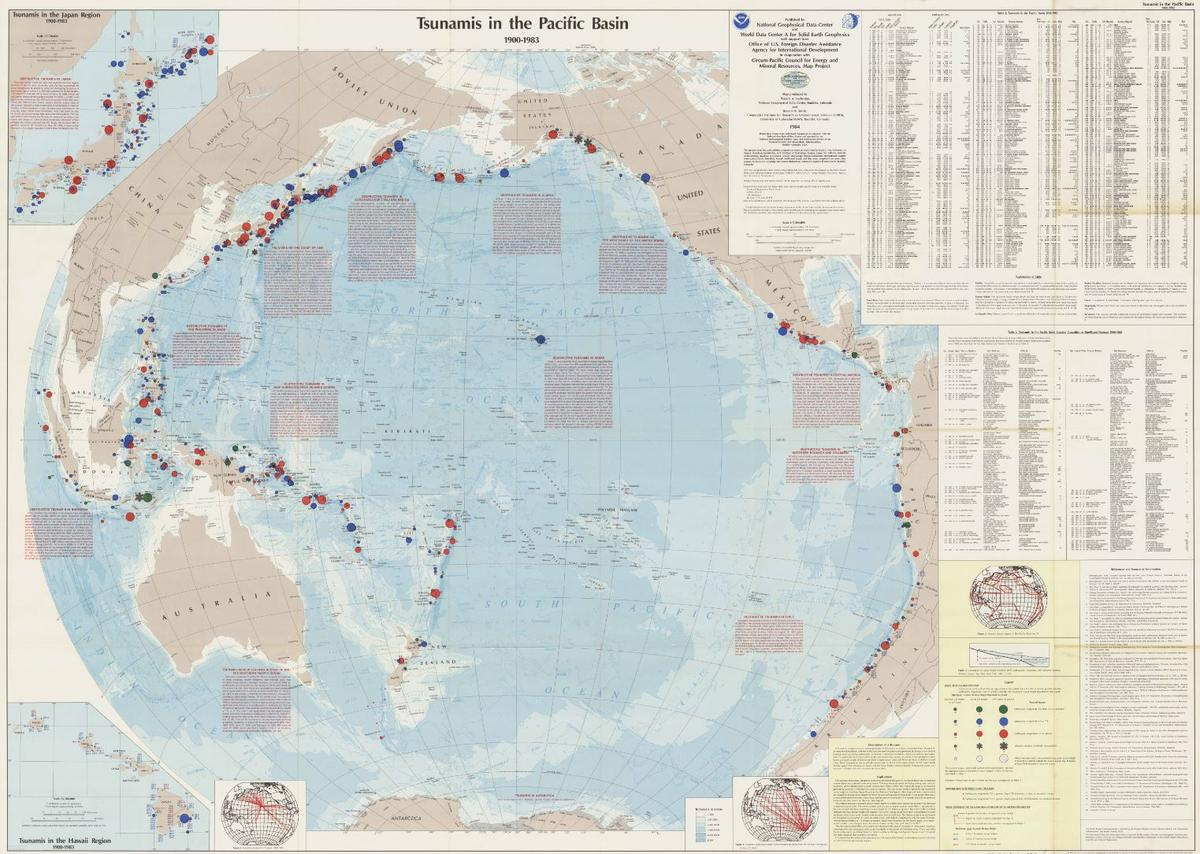1984 Tsunamis in the Pacific Basin Poster